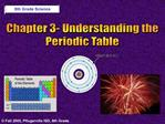 Chapter 3- Understanding the Periodic Table
