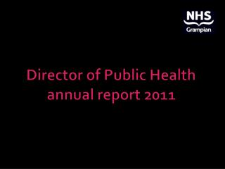 Director of Public Health annual report 2011