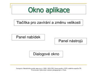 Okno aplikace