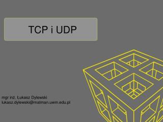 TCP i UDP