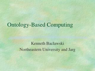 Ontology-Based Computing