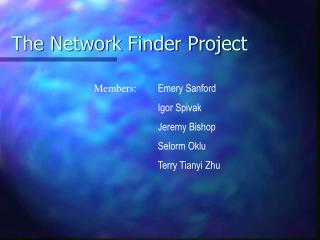 The Network Finder Project