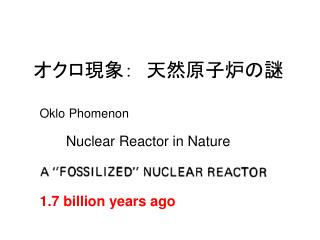 Nuclear Reactor in Nature
