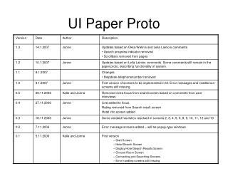 UI Paper Proto