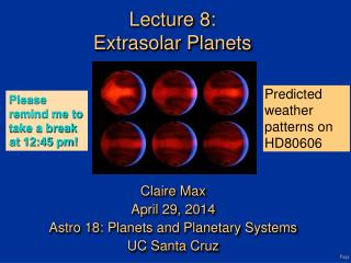 Lecture 8: Extrasolar Planets
