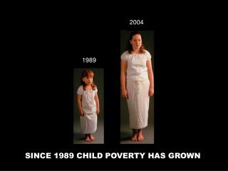 SINCE 1989 CHILD POVERTY HAS GROWN