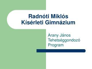 Radnóti Miklós  Kísérleti Gimnázium