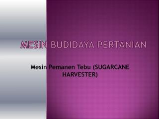 Mesin  Budidaya Pertanian