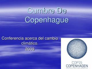 Cumbre De Copenhague