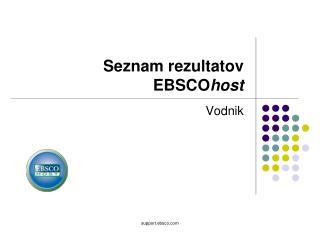 Seznam rezultatov EBSCO host