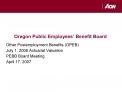 Oregon Public Employees  Benefit Board