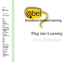 Plug into Learning abelearn