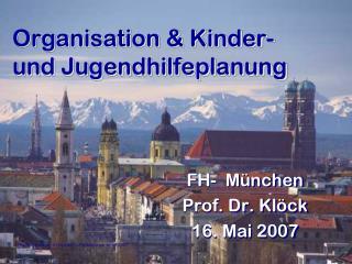 Organisation & Kinder- und Jugendhilfeplanung