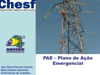 PAE – Plano de Ação Emergencial