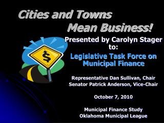 Cities and Towns  				Mean Business!