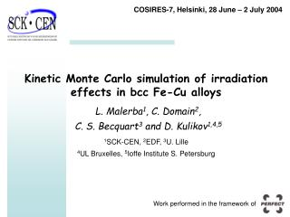 Kinetic Monte Carlo simulation of irradiation effects in bcc Fe-Cu alloys