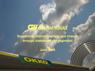Supporting internal learning and change  through stakeholder engagement June 2008