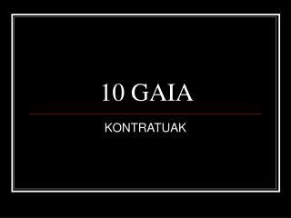 10 GAIA