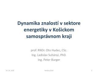 Dynamika znalostí v sektore energetiky vKošickom samosprávnom kraji