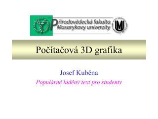 Počítačová 3D grafika
