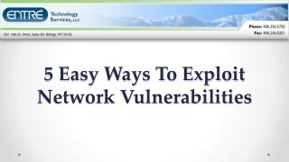 5 Easy Ways To Exploit Network Vulnerabilities
