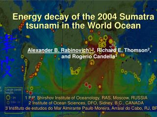 Energy decay of the 2004 Sumatra tsunami in the World Ocean