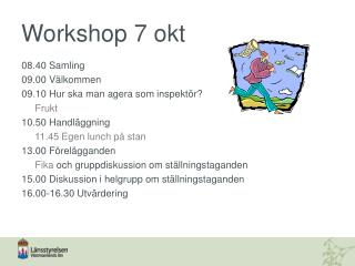 Workshop 7 okt