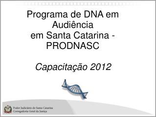 Programa de DNA em Audiência  em Santa Catarina - PRODNASC Capacitação 2012