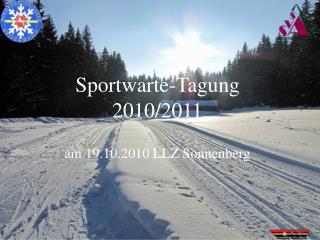 Sportwarte-Tagung 2010/2011