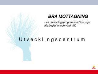 BRA MOTTAGNING - ett utvecklingsprogram med fokus på tillgänglighet och vårdmiljö