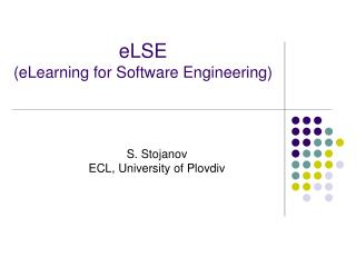 eLSE (eLearning for Software Engineering)