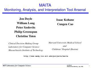 MAITA Monitoring, Analysis, and Interpretation Tool Arsenal