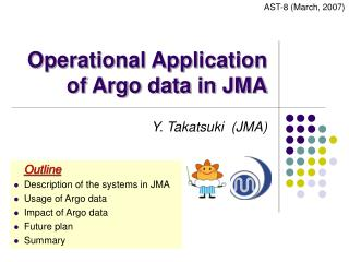 Operational Application of Argo data in JMA
