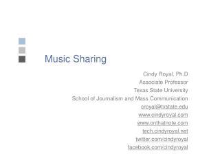 Music Sharing