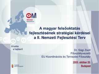 A magyar felsőoktatás fejlesztésének stratégiai kérdései a II. Nemzeti Fejlesztési Terv