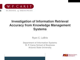 Investigation of Information Retrieval Accuracy from Knowledge Management Systems