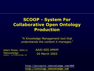 SCOOP - System For Collaborative Open Ontology Production