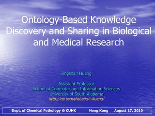 Ontology-Based Knowledge Discovery and Sharing in Biological and Medical Research