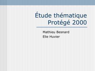 Étude thématique Protégé 2000