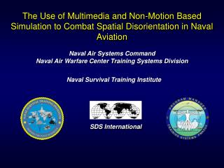 Naval Air Systems Command Naval Air Warfare Center Training Systems Division