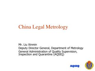 China Legal Metrology