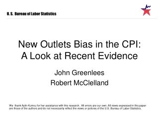 New Outlets Bias in the CPI: A Look at Recent Evidence