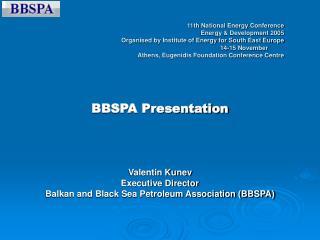 BBSPA Presentation Valentin Kunev Executive Director