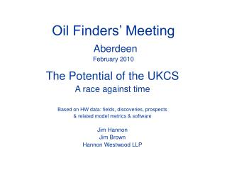 Oil Finders' Meeting Aberdeen February 2010