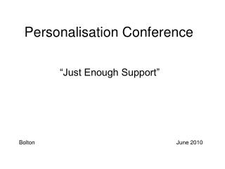 Personalisation Conference