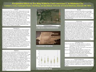 Precipitation Effects on Tree Ring Width for  Ulmus americana  L. in Oklahoma City