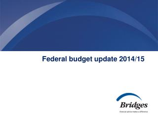 Federal budget update 2014/15