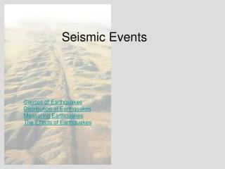 Seismic Events