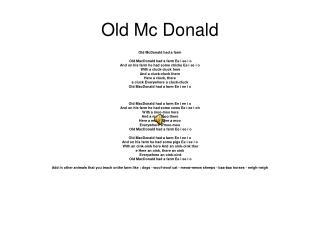 Old Mc Donald