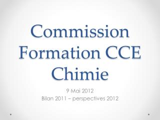 Commission Formation CCE Chimie